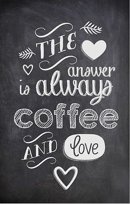 Coffee and love!Canvas Print Choose Your Size