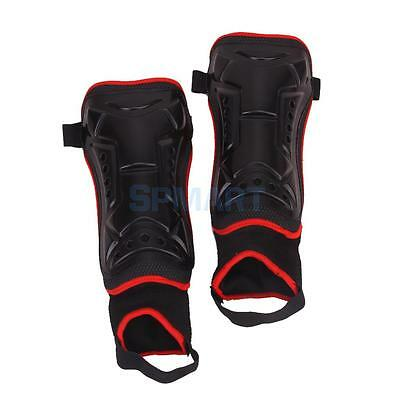 Youth Adult Black Football Soccer Team Sport Shin Pads Guards Leg Protector