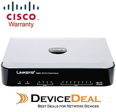 Cisco SPA8000 8-Port IP Telephony Gateway - VoIP phone adaptor (SPA8000-G4)