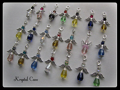 **** 10 MIXED GUARDIAN ANGEL CHARM CLIPS****(Plus Free Gift)