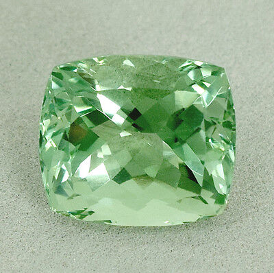 CERTIFIED 14.73 Cts AAA Green Africa Amethyst Cushion Cut