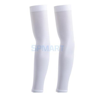 White Cooling UV SUN PROTECTION ARM SLEEVE golf driving Outdoor Cycle sport