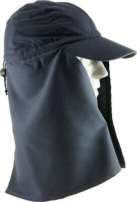 Legionnaire Hat with Throat Cover – Navy Blue – One Size Fits All– UV Prot