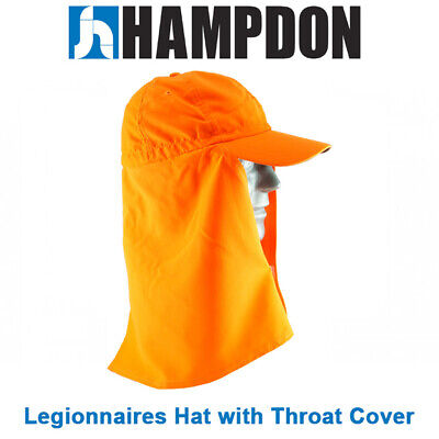 Legionnaire Hat with Throat Cover – Orange – One Size Fits All– UV Protect