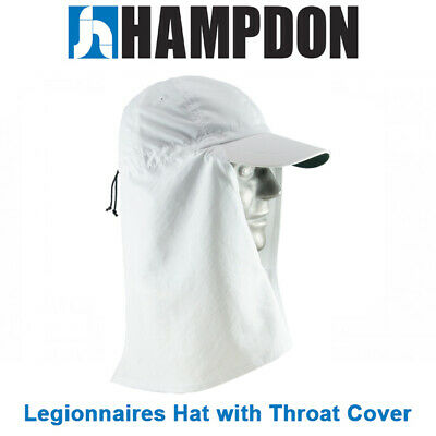 Legionnaire Hat with Throat Cover – White – One Size Fits All– UV Protecti