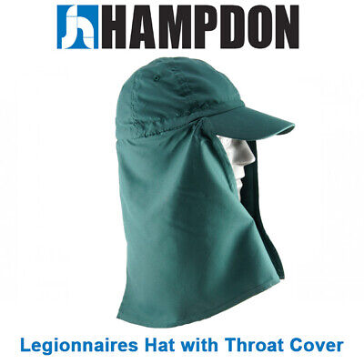 Legionnaire Hat with Throat Cover – Green – One Size Fits All– UV Protecti