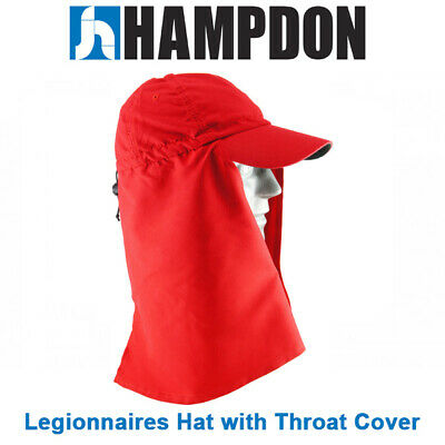 Legionnaire Hat with Throat Cover – Red – One Size Fits All– UV Protection