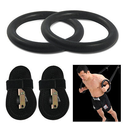 2x PALESTRA GINNASTICA ANELLI OLIMPICI COPPIA PER CROSSFIT PULL UP TRAINING RING