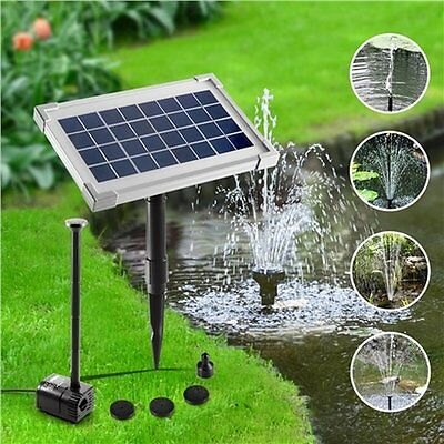 NEW 3.5W Solar Power Outdoor Fountain Submersible Water Pump w/ 4 Fountain Heads