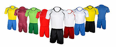 Football Kits Soccer Short Sleeve T-Shirt Team Suit Sportswear Kids Boys Adults