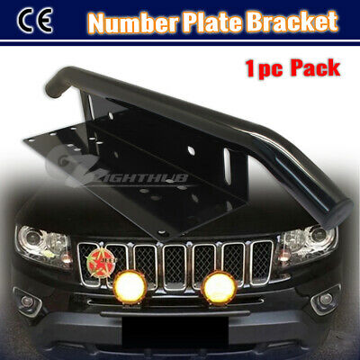 License Number plate Holder Bullbar LED Work Light Mounting Bracket Bumper Frame