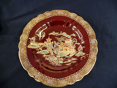 Carlton Ware Rouge Royale Mikado Kissing Doves Plate 1936/40 2091