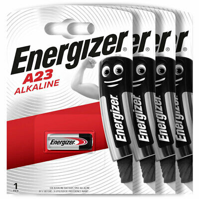 4 x Energizer Alkaline A23 batteries 12V MN21 A23 K23A LRV08 Alarms Calculator
