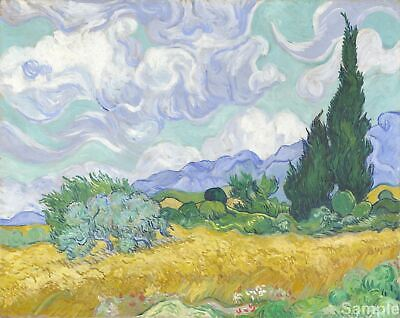 Vincent Van Gogh Wheat Field with Cypresses Painting Fine Art Reprint A3 A4