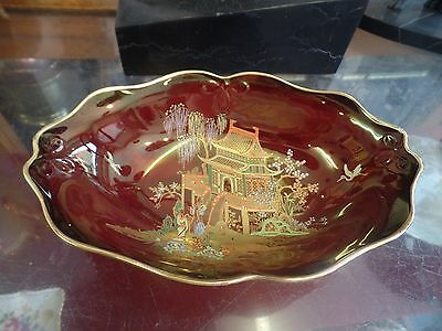 Carlton Ware Rouge Royale Mikado oval bowl Plate 1916/23