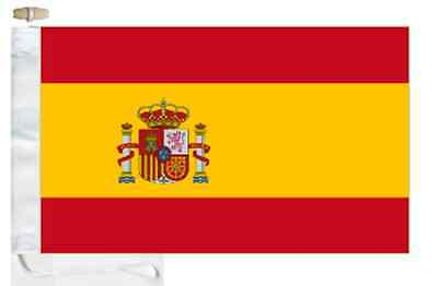 Spain State Courtesy Boat Flag Roped & Toggled