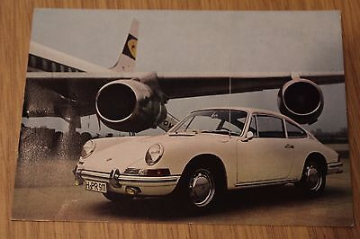 Porsche 911 Factory Produced Advertising Postcard 1960's Original