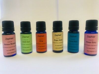 Set of 6 x 10ml Essential synergy Oils. Potpourri,Diffusers,Burners,Massage