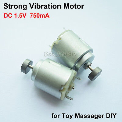 Strong vibration DC 1.5v Rotary Massager Vibration Motor Round type motor
