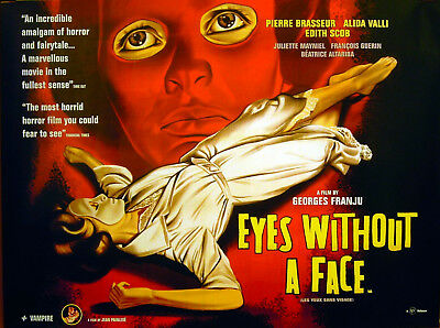EYES WITHOUT A FACE 1959 Georges Franju Pierre Brasseur Alida Valli QUAD POSTER