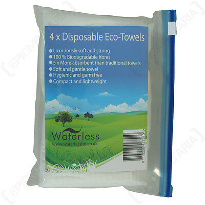 PITS AND BITS DISPOSABLE ECO TOWELS - Camping Festival Hiking Biodegradable