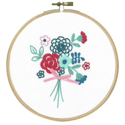 Vervaco Modern Flowers Embroidery Kit