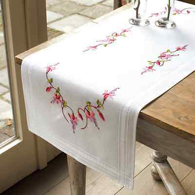 Vervaco Fuchsia Runner Embroidery Kit