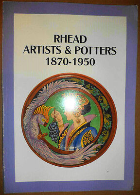 RARE ANTIQUE Rhead Artists & Potter 1870-1950 EUROPEAN ART POTTERY HISTORY GUIDE