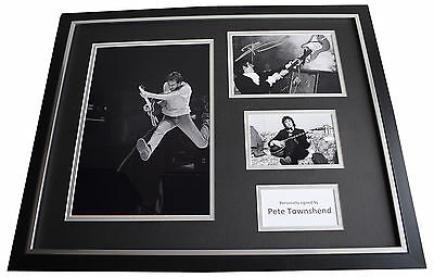 Pete Townshend SIGNED Framed Photo Autograph Huge display Who Music AFTAL COA