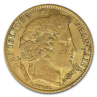France 10 Franc Gold Coin - Early Head Ceres