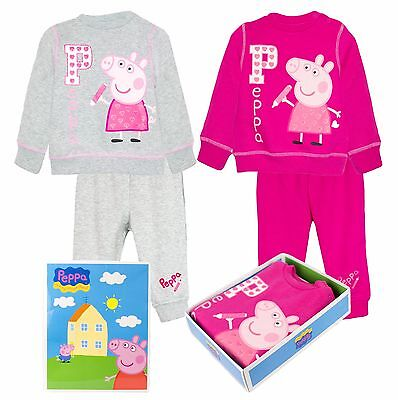 Official Peppa Pig Baby Girls Tracksuit Outfit Set 6 Months - 3 Years GIFT BOX