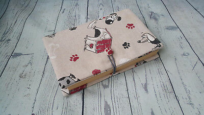 Fabric cotton book cover, notebook cover, fabric journal, traveler book cover