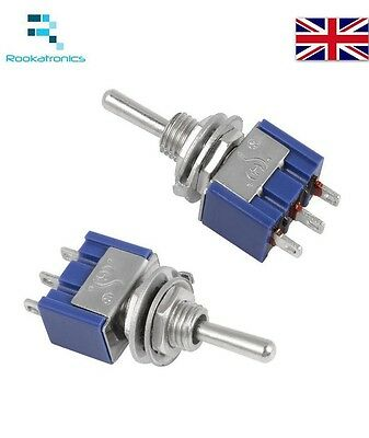Mini Latching Toggle Switch 3 Pin ON/ON SPDT 6A 125VAC/3A 250VAC Free Postage