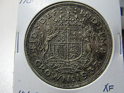 1937 Great Britain Crown Extra Fine Coin XF