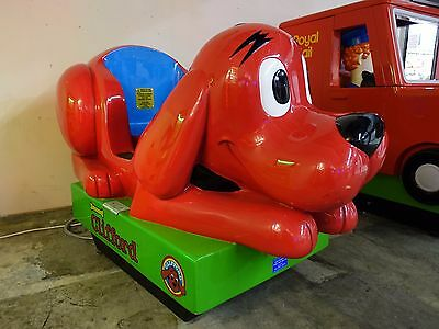 CLIFFORD THE DOG KIDDIE RIDE, COIN OP , arcade