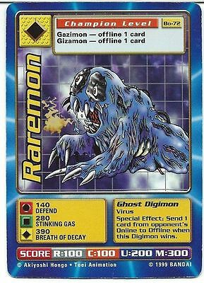 Bandai Digimon Card Raremon Bo-72