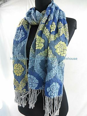 US SELLER woman gift scarf boho rose thick winter scarf 3D