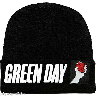 GREEN DAY BEANIE SKI HAT/CAP Embroidered Logo Authentic Licensed NEW