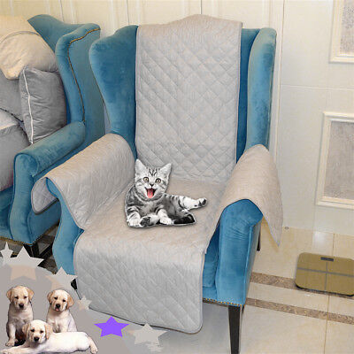 1-Seat Sofa Arm Chair Settee Protector Furniture Throw Slip Cover Light Gray