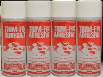 4 Cans Trimfix High Temp Spray Adhesive 500ml Tins - SPECIAL OFFER !!