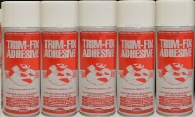 5 Cans Trimfix High Temp Spray Adhesive 500ml Tins - SPECIAL OFFER !!