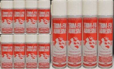 12 Cans Trimfix High Temp Spray Adhesive 500ml Tins - SPECIAL OFFER !!