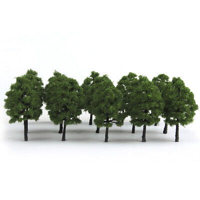 Pack of 20 Dark Green Model Trees Railway Landscape Train Layout HO OO