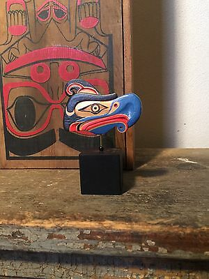 Native Pacific NW Carved Thunderbird Mask Coast Salish Art Totem Artie George