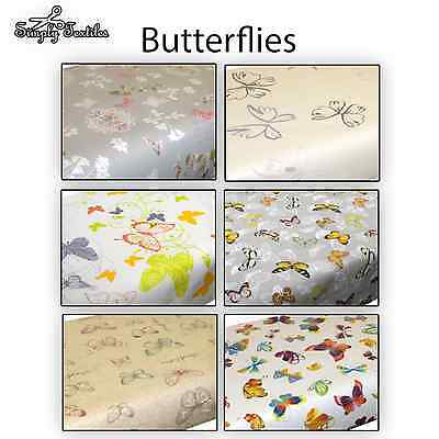 Butterflies Butterfly High Quality PVC Tablecloth Oilcloth Vinyl