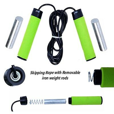 Adjustable Weighted Skipping Rope Speed Fitness Exercise Jumping Workout