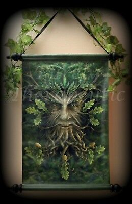 ~'OAK KING' FANTASY WALL SCROLL~Anne Stokes Collectible~Wicca~Pagan~Green Man