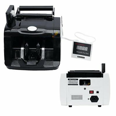 Money Bill Cash Counter Bank Machine Currency Counting UV & MG Counterfeit