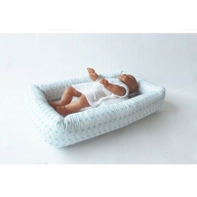 NEW Babyhood Breathe Eze Embroidery Cosy Crib - Sky Blue