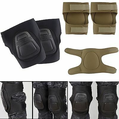 Outdoor Tactical Military Knee Pads Protective Guard For Bicycle Skate Sport #GY